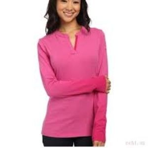 Nike Golf Dry Fit Pink Long Sleeve Top Size Small